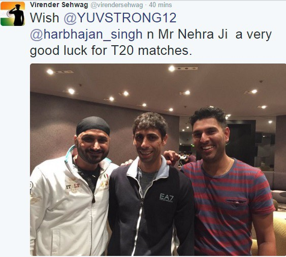 Virender Sehwag's Cool Wish - Good Luck